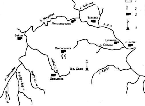 Схема расположения находок XIV